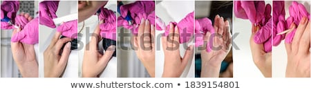Beautician Taking Care Of Man's Nail Stock photo © AndreyPopov