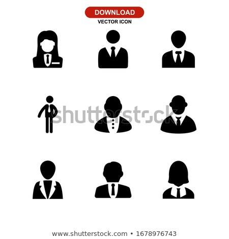 Líder patrão homem pessoas vetor ícone Foto stock © blaskorizov