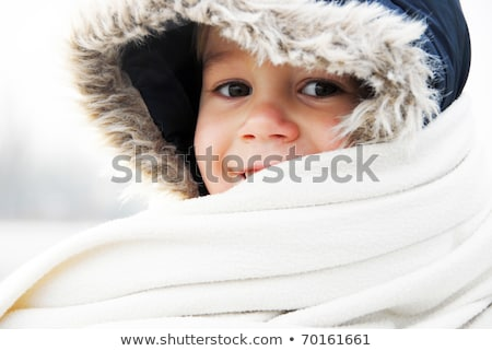 Güzel sevimli erkek kış sezonu dışında kar Stok fotoğraf © Lopolo