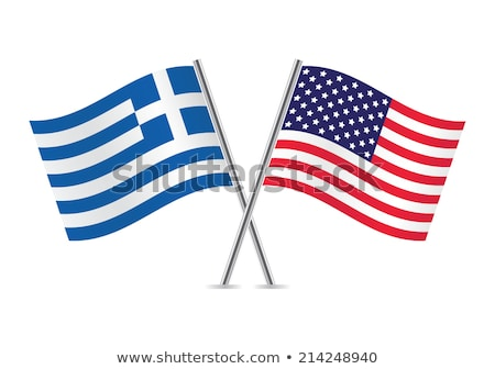 Two waving flags of United States and greece Stock photo © MikhailMishchenko