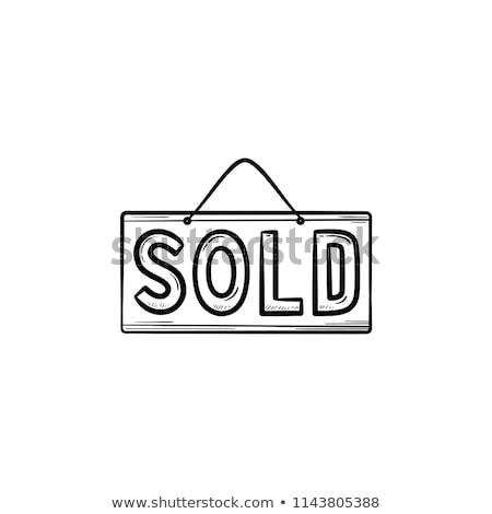 Eladva felirat kézzel rajzolt skicc firka ikon Stock fotó © RAStudio