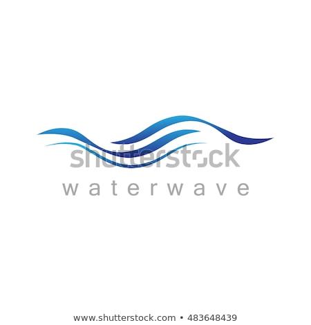 azul · agua · ola · icono · logo - foto stock © blaskorizov