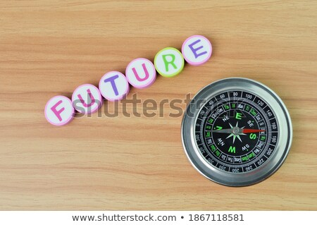 Compass on White Background, Tomorrow Concept Stock photo © make