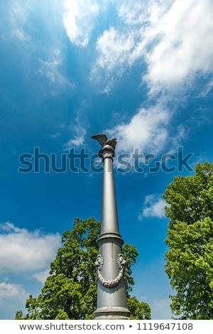 Águia · branco · símbolo · Polônia · pássaro · azul - foto stock © boggy