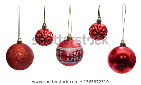 Christmas labels collection with Christmas balls, isolated items Stock photo © balasoiu