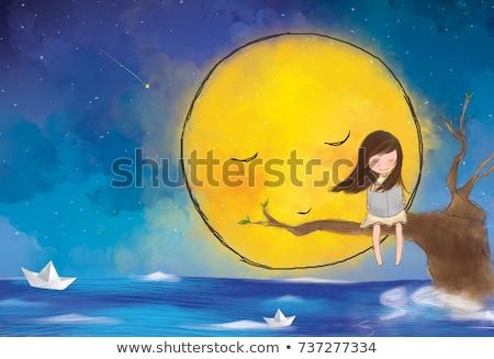 少女 巨人 黄色 図書 実例 子 ストックフォト © colematt