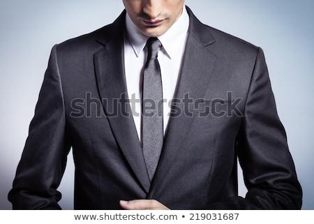 Közelkép elegáns fiatalember csokornyakkendő visel csokornyakkendő Stock fotó © feedough