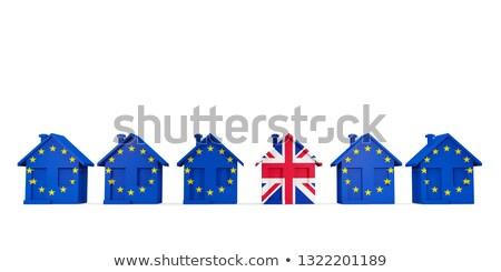 дома флаг Евросоюз флагами изолированный Сток-фото © MikhailMishchenko