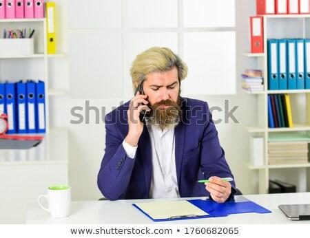 Iş süreç adam yönetmen konuşma telefon Stok fotoğraf © robuart