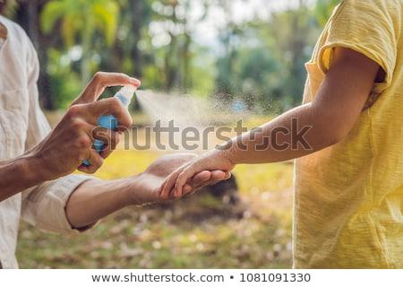 Mosquitos aerosol ilustración sangre Foto stock © adrenalina