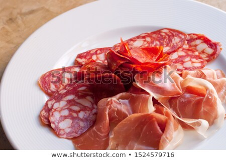 cold smoked meat plate stock photo © grafvision