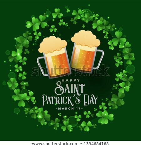 saint patricks celebration patry with beer mugs background stock photo © sarts