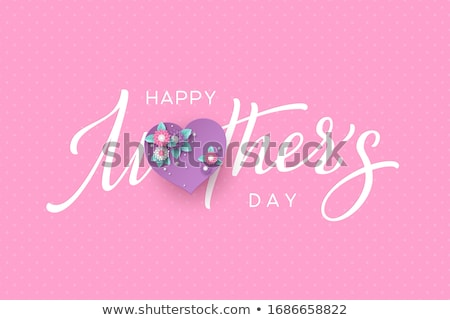 Happy Mother's day. Holiday of mom. Lettering with floral decoration. Round frame of flowers Stock photo © user_10144511