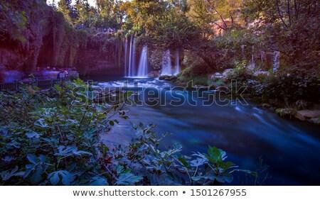 ősz vízesés természet stock fotózás hosszú expozíció Stock fotó © CrackerClips