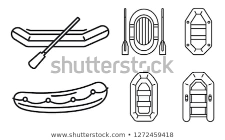Icon of rubber boat  Stock photo © angelp
