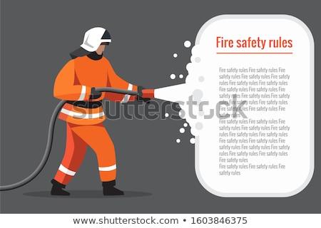 bombeiro · vetor · ícone · ilustração · uniforme · trabalhar - foto stock © angelp