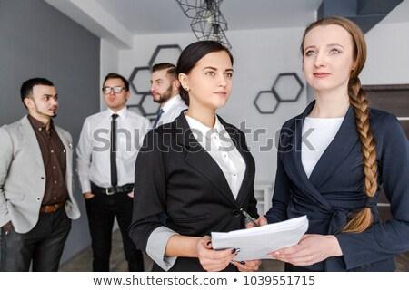 два · девочек · ноутбук · бизнеса · компьютер · женщины - Сток-фото © deandrobot