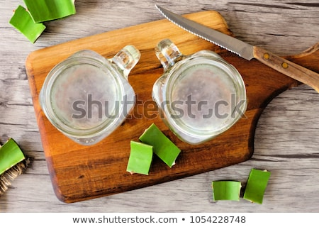 Aloe Vera drink in mason jar Stock photo © Alex9500