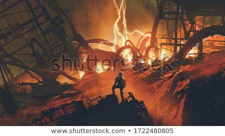 Gök gürültüsü fabrika sahne örnek iş dizayn Stok fotoğraf © bluering