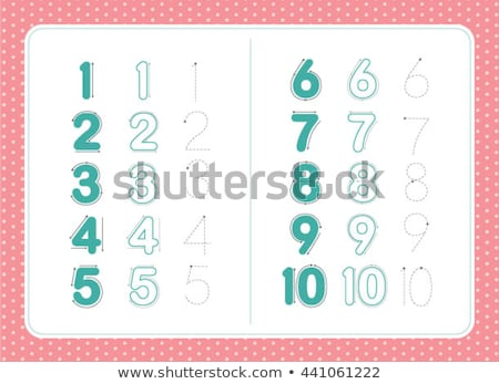 How to write number ten worksheet Stock photo © colematt