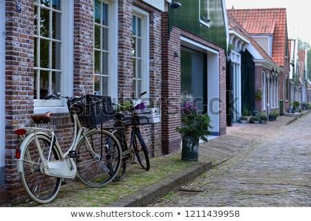 Beautiful cozy street of Edam Stock photo © Anna_Om