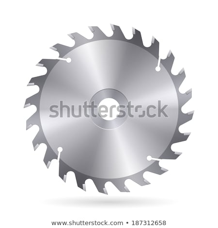 carpentry tool detail circular saw blade vector stock photo © pikepicture