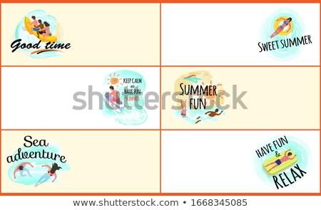 maravilhoso · verão · teia · vetor · pessoas - foto stock © robuart