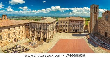 Toskana · panoramik · görmek · İtalya · harika · nokta - stok fotoğraf © borisb17
