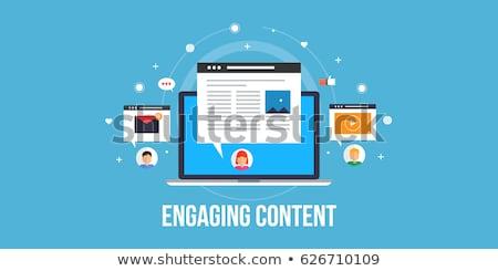содержание маркетинга услугами Маркетинговая стратегия развития онлайн Сток-фото © RAStudio