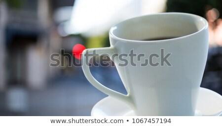 コーヒーカップ ソーサー 通り デジタル複合 建物 ストックフォト © wavebreak_media