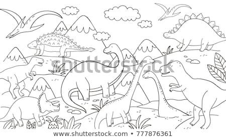 cartoon dragon fantasy character coloring page Stock photo © izakowski