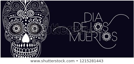Day of the Dead mexican holiday Dia de los Muertos. Handwritten lettering type text isolated on whit Stock photo © orensila