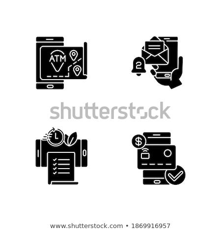 Szett bankügylet ikonok mobil fogalmak háló Stock fotó © smoki