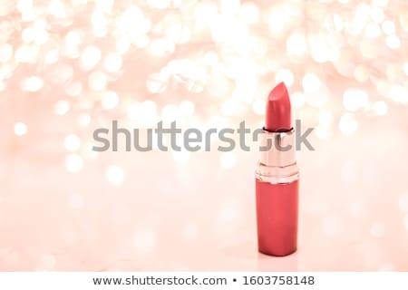 De coral lápiz de labios aumentó oro Navidad nuevos Foto stock © Anneleven