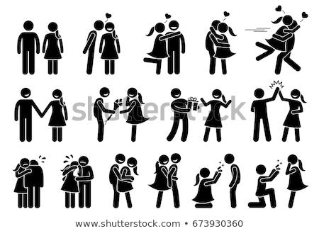 Düğün hediyeler vektör ikon imzalamak Stok fotoğraf © pikepicture