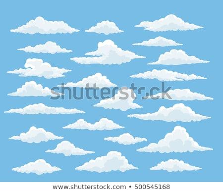 Błękitne · niebo · biały · chmury · cartoon · stylu · projektu - zdjęcia stock © decorwithme