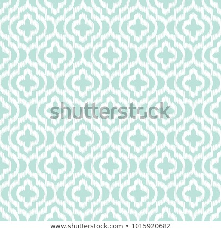 Blue ikat qatrefoil seamless vector pattern. Stock photo © yopixart