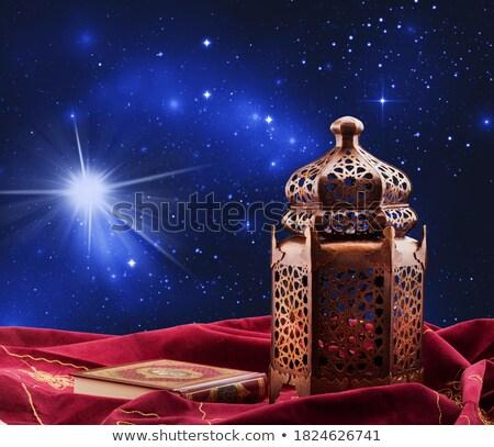 Arabisch lantaarn brandend kaars Stockfoto © choreograph