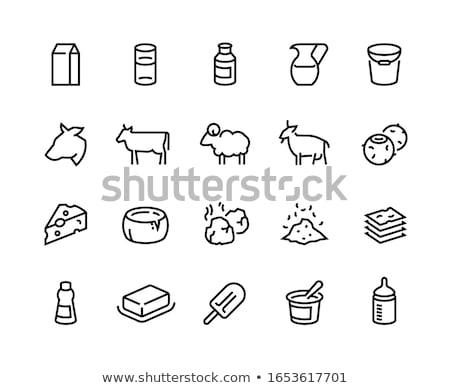 Paketlemek tereyağı ikon vektör örnek Stok fotoğraf © pikepicture