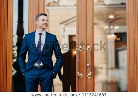 Jól kinéző elégedett üzlet munkás elegáns luxus Stock fotó © vkstudio