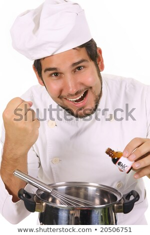 Stock photo: preparing lunch with poison bottle