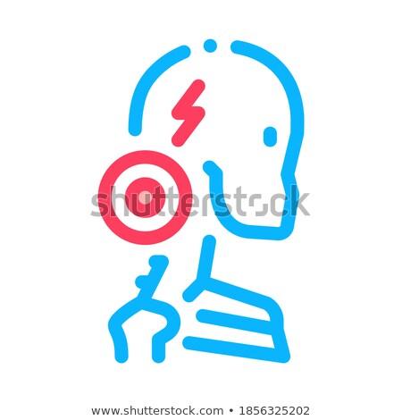 cervical vertebrae arthritis icon vector outline illustration Stock photo © pikepicture