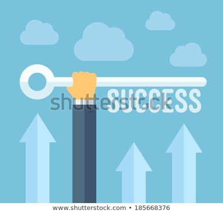 Strategia biznesowa sukces kluczowych wektora metafora wydajność Zdjęcia stock © RAStudio