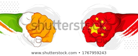 Inde vs Chine tension confrontation Photo stock © vectomart