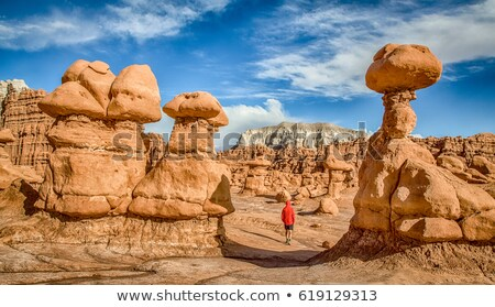гоблин · долины · небе · пейзаж · пустыне · лет - Сток-фото © gwhitton