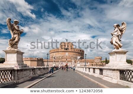 święty aniołów zamek rzeźba Rzym Błękitne niebo Zdjęcia stock © Francesco83