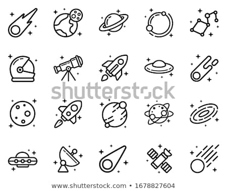 天文学 · アイコン · コレクション · 9 · 漫画 · 手 - ストックフォト © carbouval