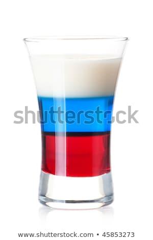 koktajl · kolekcja · niebieski · martini · pomarańczowy · plasterka · odizolowany - zdjęcia stock © karandaev