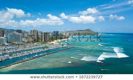 panorama · waikiki · Honolulu · Hawaii · skyline · parco - foto d'archivio © backyardproductions