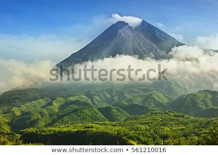vulcão · nascer · do · sol · fumar · fogo · natureza · viajar - foto stock © vichie81